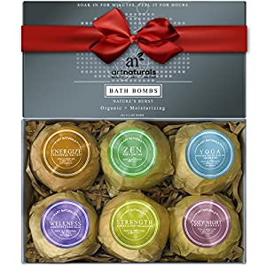 Art Naturals Bath Bombs Gift Set - 6 X 4.1 Oz Ultra Lush Essential Oil Handmade Spa Bomb Fizzies - Organic & Natural Ingredients & Shea Butter for Moisturizing Dry Skin - Relaxation In a Box by ArtNaturals