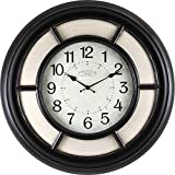23 in. Round Baxton Linen Wall Clock