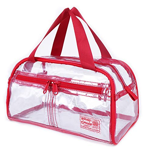 Rough Enough Clear Transparent Fashion Comestic Handbag Toiletry Bag Large Capacity Toiletry Travel Wash Bag Cosmetic Makeup Bag Kit Box Set Clear Bag With Zipper For Outdoor Trip Organize Accessories