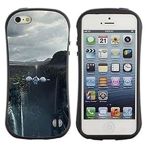 "Hypernova Slim Fit Dual Barniz Protector Caso Case Funda Para Apple iPhone SE / iPhone 5 / iPhone 5S [Naturaleza Hermosa Forrest Verde 87""]"