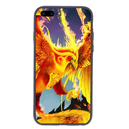 CHUFZSD Flame Fire Phoenix iPhone 7/8 Plus Case Soft Flexible TPU Anti Scratch Shock-Proof Protective Shell Compatible Phone Case Cover (5.5 Inch) -