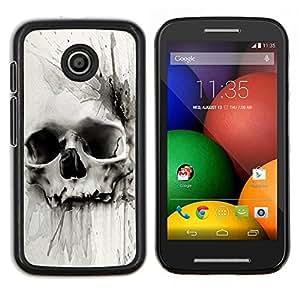 EJOOY---Cubierta de la caja de protección para la piel dura ** Motorola Moto E ** --Muerte Acuarela Dibujo metal