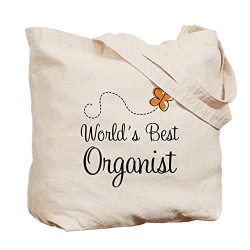 CafePress–Worlds Best organista–Borsa di tela naturale, panno borsa per la spesa