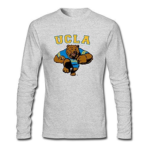 (Men's Fashion UCLA Bruins Mascot Logoucla Bruins Mascot Long Sleeve T Gray US Size XL)