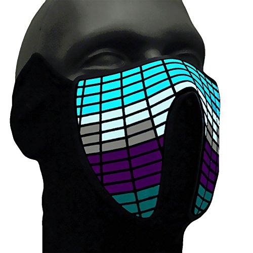 Equalizer LED mask, ®Ucult, light up voice controlled Party mask