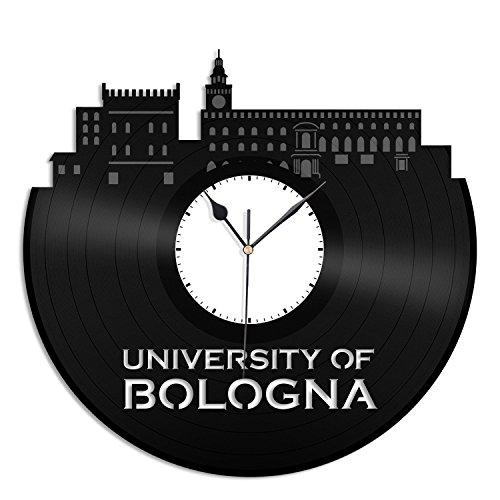 VinylShopUS - Bologna University Vinyl Wall Clock City Skyline Unique Gift Home Room | Offies Decoration by VinylShopUS