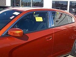 CHARGER 2011-2017 DODGE (4 Pc: Stainless Steel Window Trim Package NO pillar trim & window sill trim , 4-door) WP51912:QAA