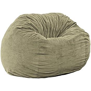 Merveilleux CordaRoyu0027s   Moss Chenille Convertible Bean Bag Chair   King