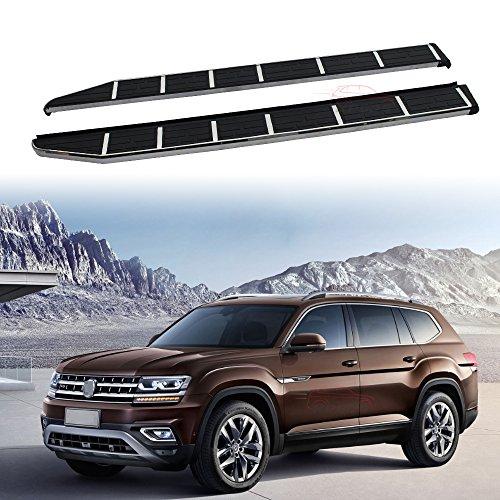 KPGDG Fit for VW Volkswagen Atlas 2018 Stainless Steel Side Steps Nerf Bar Running Boards Protector Bar