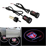 CHAMPLED For DODGE Car Auto Laser Projector Logo Illuminated Emblem Under Door Step courtesy Light Lighting symbol sign badge LED Glow Performance
