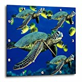 3dRose dpp_26849_3 Sea Turtles-Wall Clock, 15 by 15-Inch