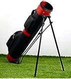 ゴルフ クラブ キャディ ケース バッグ 【レッド】 セルフ スタンド 搭載