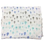 Bambino Land Bamboo Muslin Swaddle Blanket - Hot Air Balloons