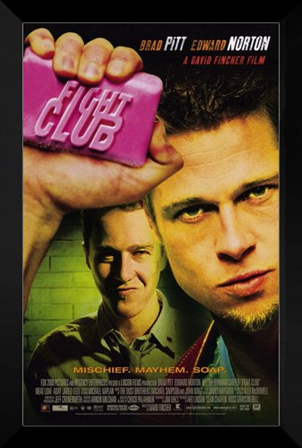 Fight Club FRAMED 27x40 Movie Poster: Brad Pitt by ArtDirect