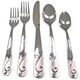 Cambridge Silversmiths Tula Frost 30-Piece Flatware Set