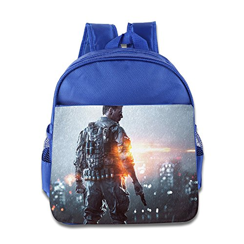 Price comparison product image XJBD Custom Funny Battlefield 4 Kids Children Schoolbag For 1-6 Years Old RoyalBlue