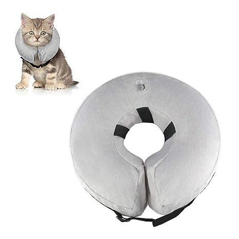 HUILI Collar Protector Inflable para Perros y Gatos, Collar ...