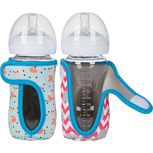 8 oz Miracle Bean Neoprene Baby Bottle Sleeves  – Adjustab