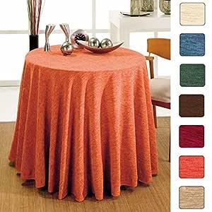 Falda de Mesa Camilla Redonda Modelo SANTA FE, Color Marrón ...