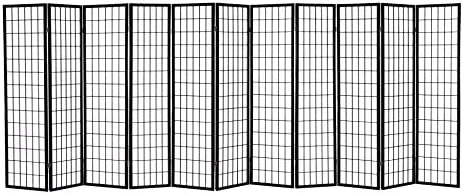 ORIENTAL Furniture 5 1 2-Feet Tall Recycled Magazine Room Divider, 6 Panels