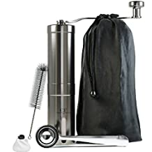 Manual Coffee Grinder Grinding precision – Great Turkish Coffee & Espresso Hand Coffee Maker - Made From Stainless Steel & Ceramic Burr - French Press Style & Aeropress Compatible