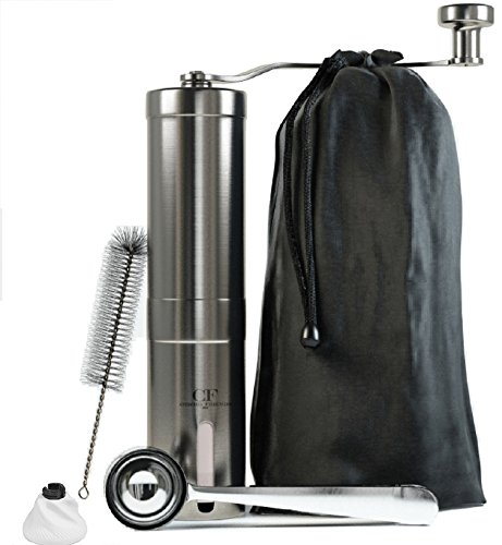 Manual Coffee Grinder Grinding precision – Great Turkish Coffee & Espresso Hand Coffee Maker – Made From Stainless Steel & Ceramic Burr – French Press Style & Aeropress Compatible Review