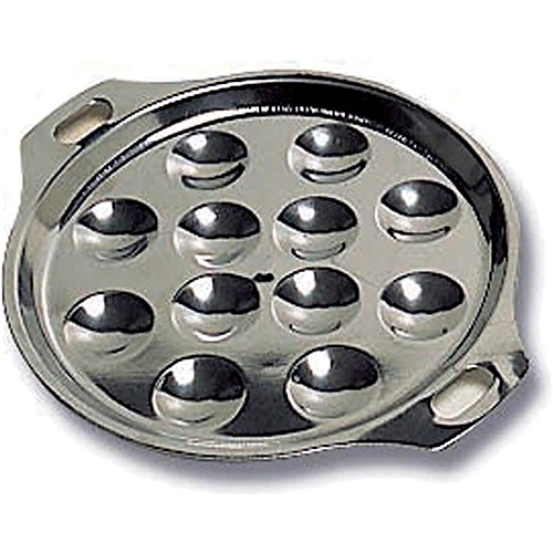 Matfer Bourgeat Escargot Dish, 12 Compartments, 5PK Stainless Steel 613281