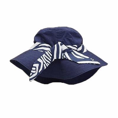 Été bébé Fille Casquettes Coton Chapeau de soleil pour 2-3 ans Marine 6891e49e075