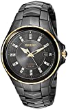 Seiko ' COUTURA' Quartz Stainless Steel Dress Watch, Color:Black (Model: SNE506)