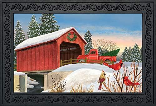 Briarwood Lane Winter Bridge Doormat Pickup Truck Indoor Outdoor 18 x 30