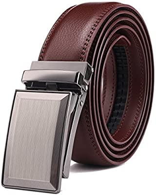 Belt for Men,Bulliant Men's Click Ratchet Belt Of Genuine Leather,Trim to Fit