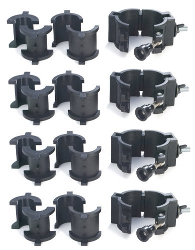 (Chauvet 360° Wrap Around O-Clamps Truss Light Mounting - 75 lb Capacity (4 Pack))