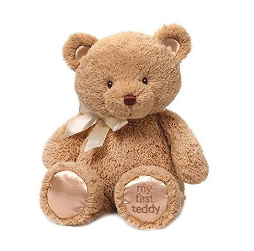 Baby GUND My First Teddy Bear Stuffed Animal Plush, Tan, (Old Teddy Bear)