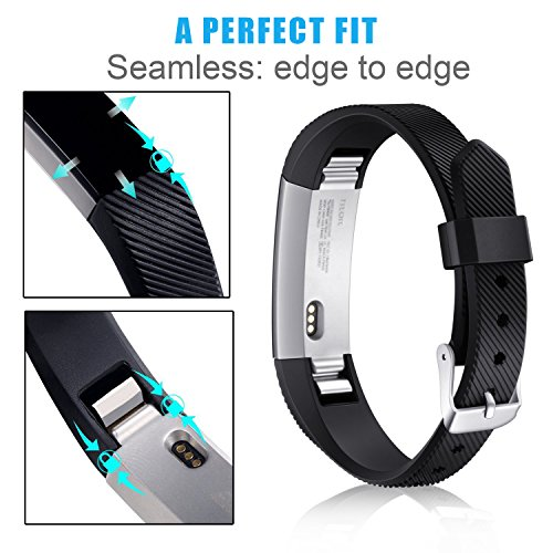 Konikit For Fitbit Alta HR and Alta Bands, Soft Adjustable