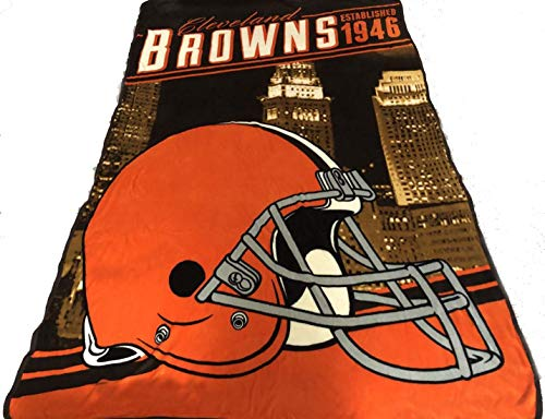 Northwest Cleveland Browns Blanket 62x90 XXL NFL Throw Lightweight