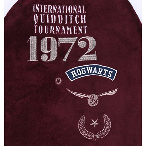 Harry Potter Hogwarts Quidditch 2tlg. Schlafanzug-Set Pyjama Fleece weiss/rot
