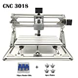 MYSWEETY DIY CNC Router Kits 3018 GRBL Control Wood Carving Milling Engraving Machine (Working Area 30x18x4.5cm, 3 Axis, 110V-240V)