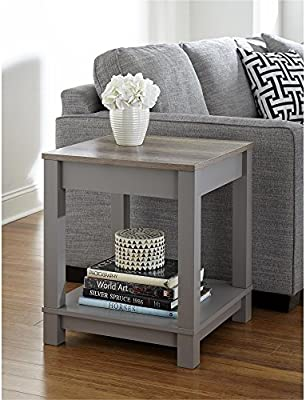 End Table, Gray) - Altra Furniture Altra Carver End Table, Grey