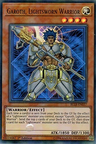 Garoth - Ultra Rare 1st Edition Lightsworn Warrior BLLR-EN037