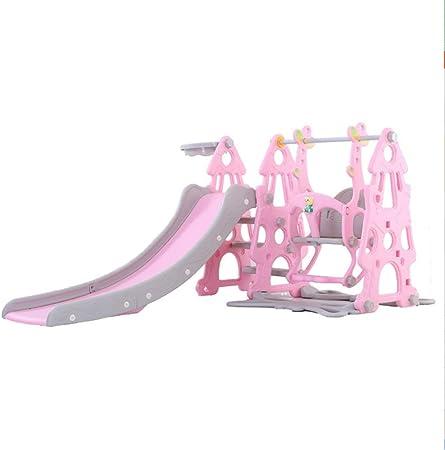 GLY Tobogan Infantil Tobogan Niños Jardin Columpios Infantiles Exterior Tobogan para Piscinas 3 En 1 For Niños Niñas Interior Al Aire Libre Uso De Patio Trasero Juguetes Niños Pequeños (Color : Pink):