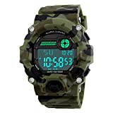 Men's Digital Sports LED Waterproof Electronic Casual Military Wrist Camouflage Strap Boys Watch With Silicone Band Luminous Army Watches