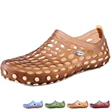 Beister Mens Summer Mesh Pull-on Water Shoes, Soft Walking Beach Sandals Clogs