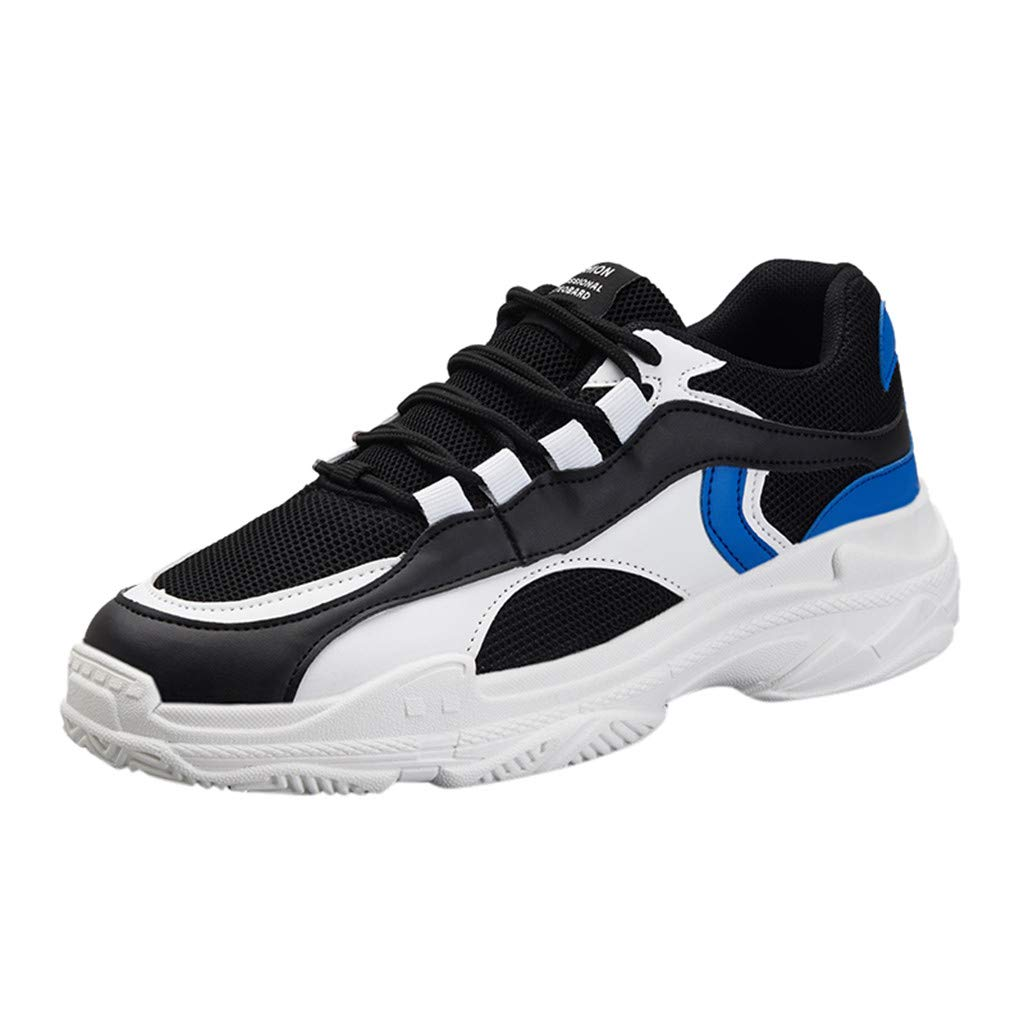 Men's Casual Running Sport Shoes Outdoor Walking Athletic Lace-up Casual Comfort Memory Training Shoe Sneakers