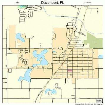 Map Of Davenport Florida.Amazon Com Large Street Road Map Of Davenport Florida Fl