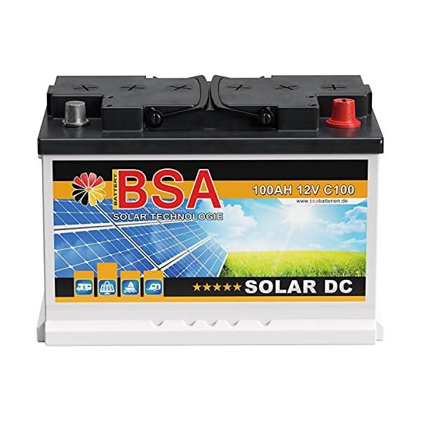 51OsYaLlO9S BSA Solar DC 12V 100Ah Batterie Solarbatterie Versorgungsbatterie Boot Wohnmobil - 6 Grössen (100Ah)