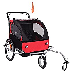 Baby Diego Bike Trailer/Jogger Red/Black