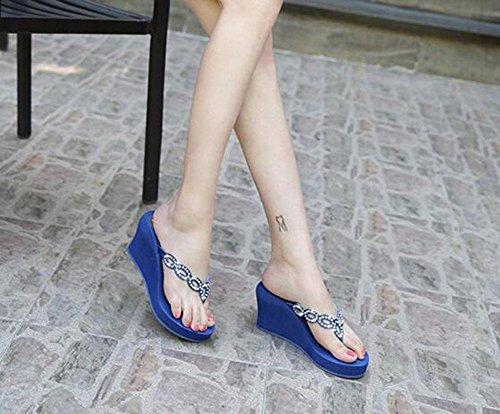 UK6 sandalias frescas US8 EU39 de 2 CN39 Sandalias cuesta mujer abajo sandalias sandalias KUKI 7qUa1W