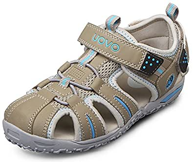 Poppin Kicks Boys & Girls Summer Fisherman Closed Toe Athletic Sandals Bisque 1 M US Little Kid