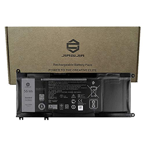 JIAZIJIA 33YDH Laptop Battery Replacement for Dell Latitude E3590 Inspiron 7577 7773 7778 7779 7786 G3 3579 3779 G5 5587 G7 7588 Vostro 7570 7580 Series Notebook 99NF2 PVHT1 15.2V 56Wh 3500mAh 3500 Series Notebook Battery