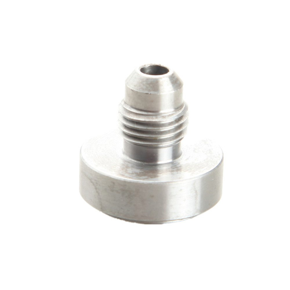 6AN AN6 an-6 Male Aluminum Weld On Fitting Round Base Silver AdlerSpeed